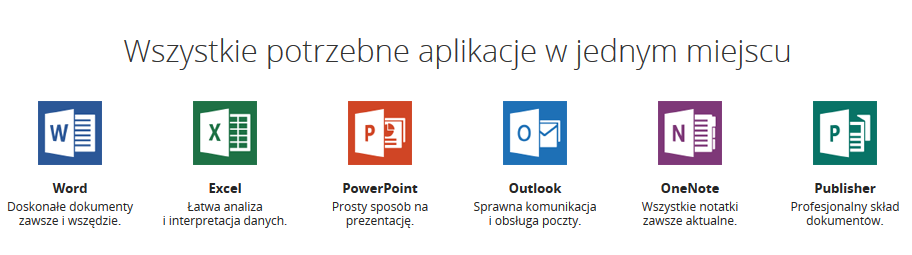 aplikacje office 365