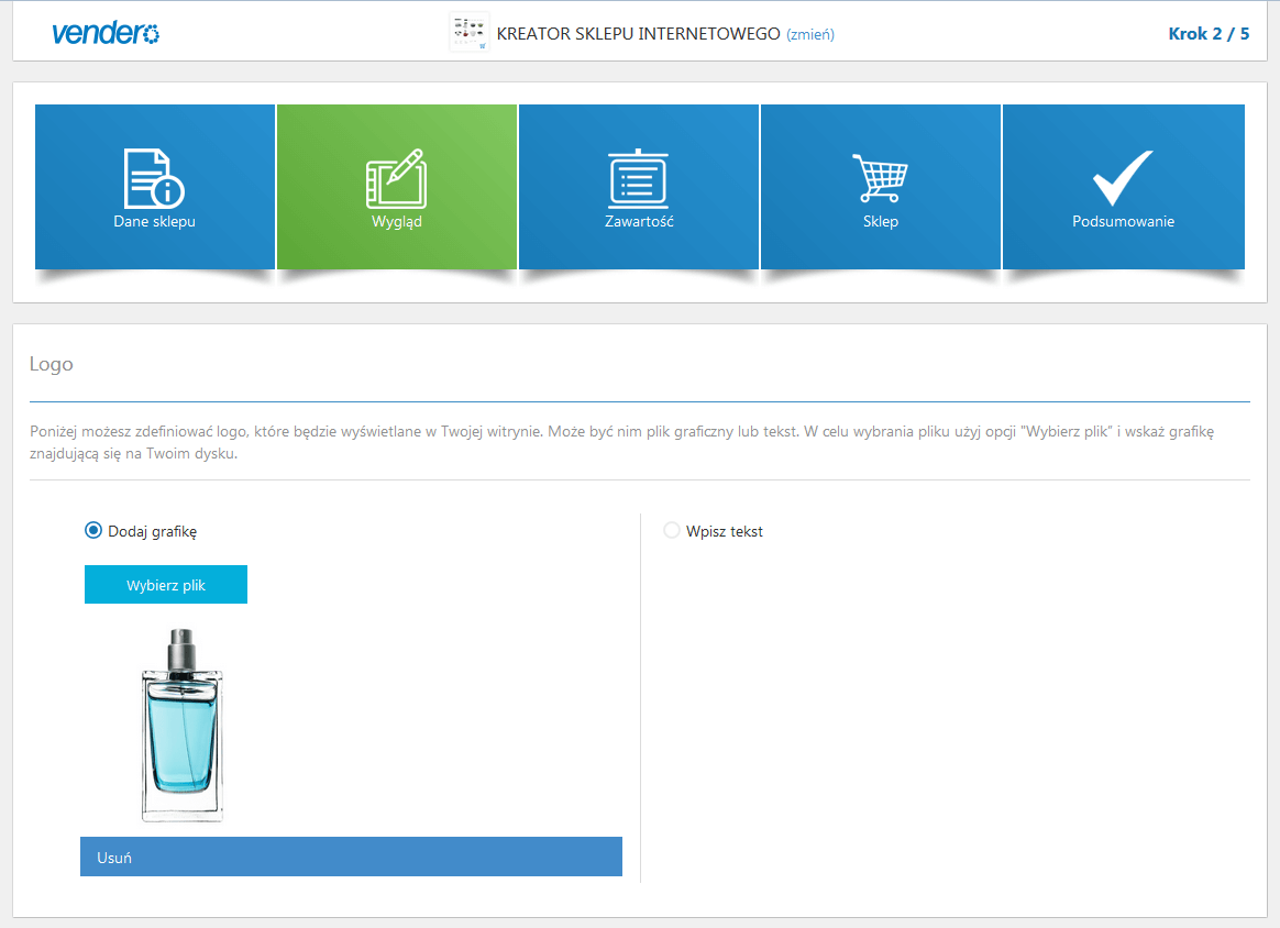 Vendero - kreator sklepu internetowego